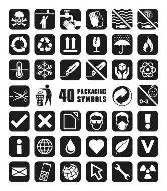 Collection of Packaging Symbols in Vector Format