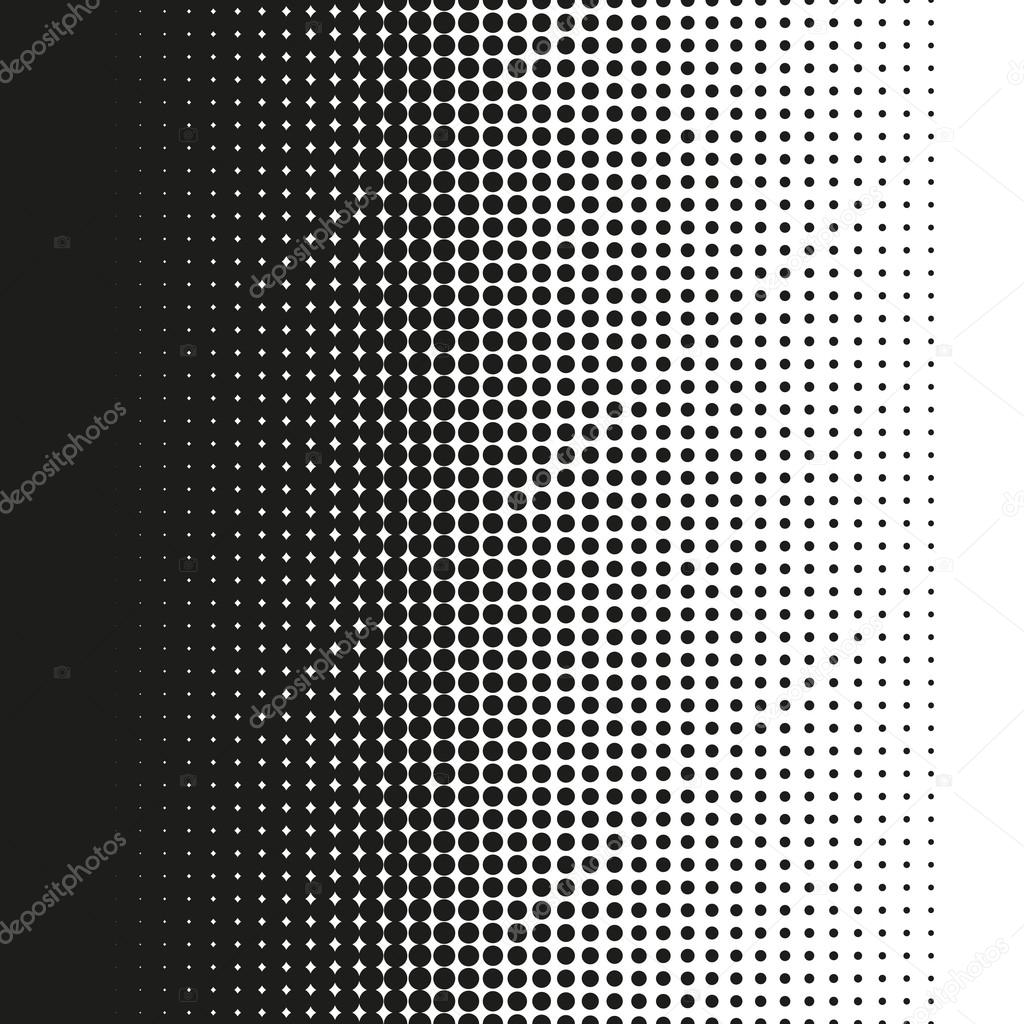 Fine halftone dots pattern gradient in vector format