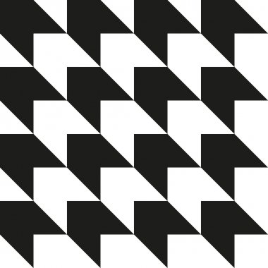 Seamless abstract black and white geometric background