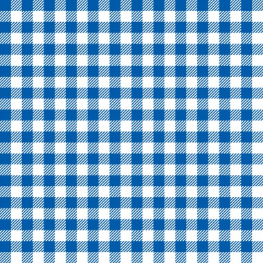 Seamless Coarse Blue Checkered  Vector Plaid Fabric Pattern Texture