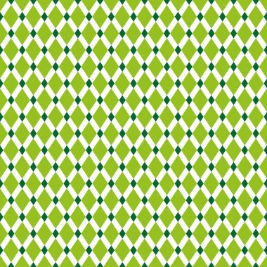 Seamless Lime and Green Diamond Pattern