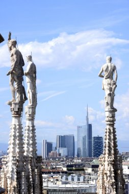 View to Milan city from Duomo