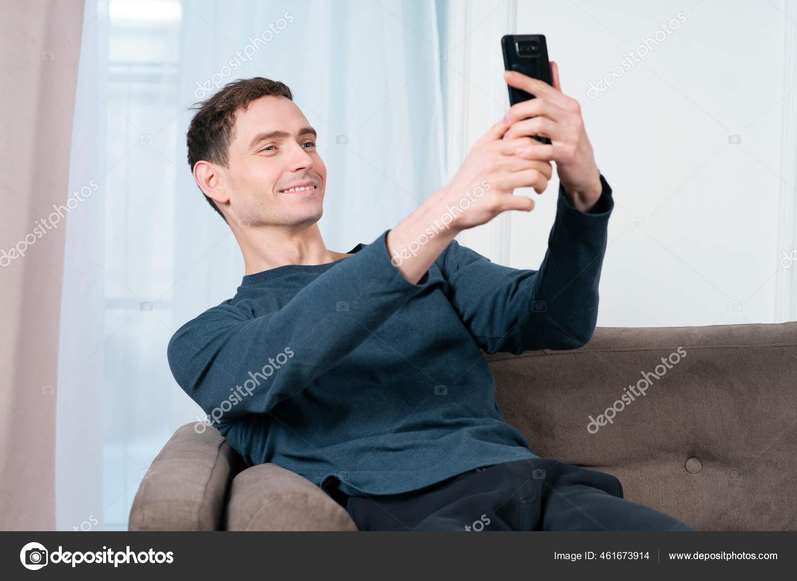 Selfie handsome guy Guys, Follow