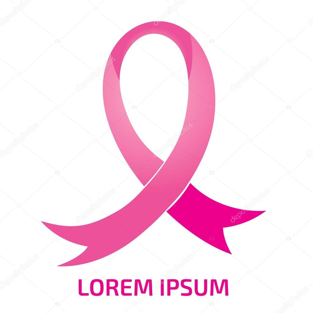 Realistic pink ribbon logo breast cancer awareness symbol realistic pink ribbon logo breast cancer awareness symbol stock vector biocorpaavc