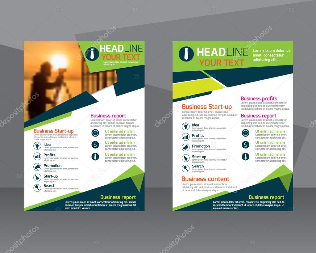 anual informe folleto flyer plantilla de dise o folleto