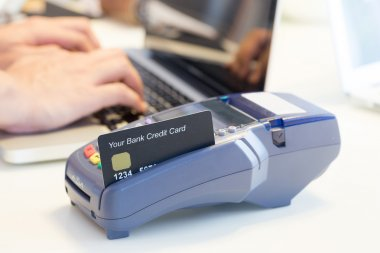Swiping Credit Card In Store