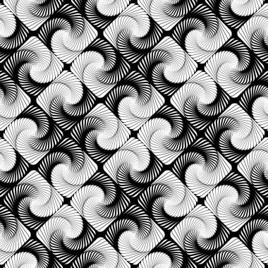 Design seamless vortex movement strip geometric pattern
