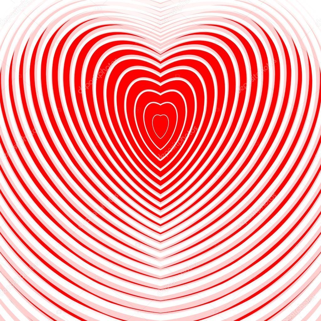 Diseño Corazón Fondo De Ilusión De Movimiento De Torsión Vector De