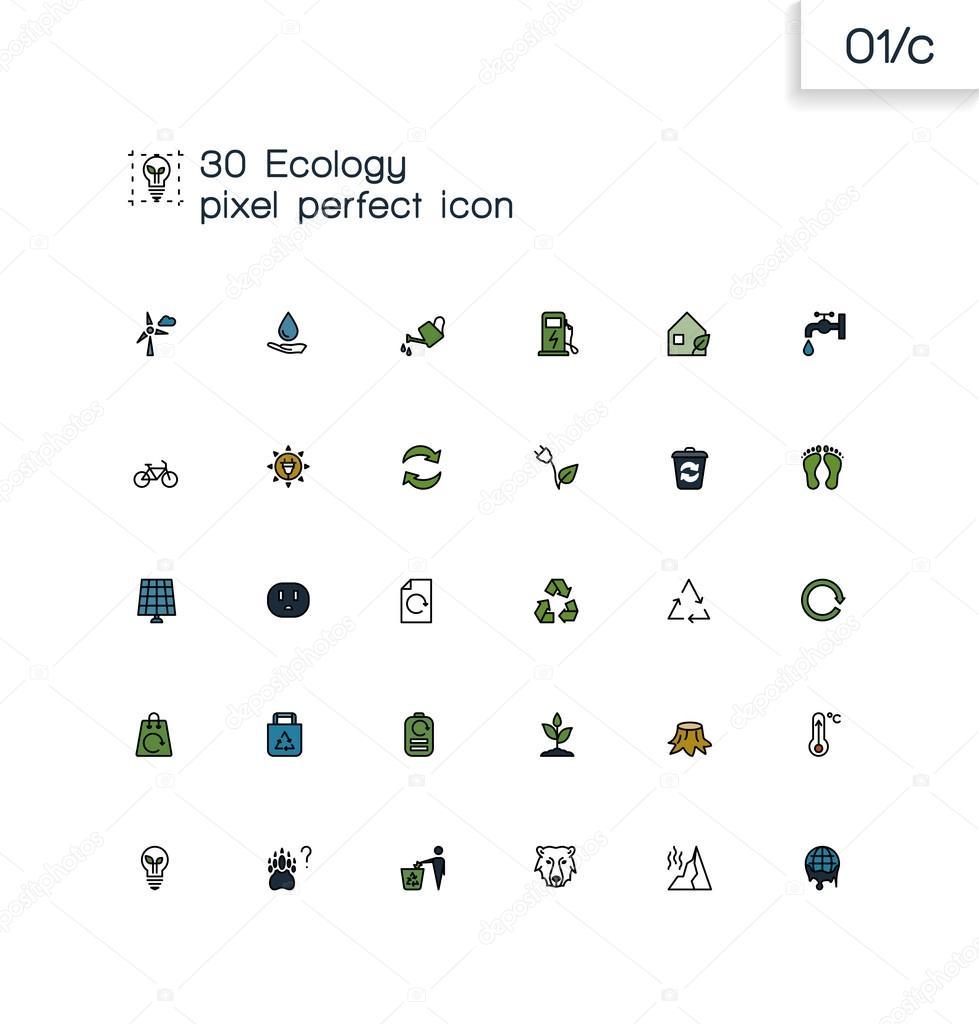 915171e095 Οικολογία και η ανακύκλωση συλλογή σύμβολα — Διανυσματικό Αρχείο ...