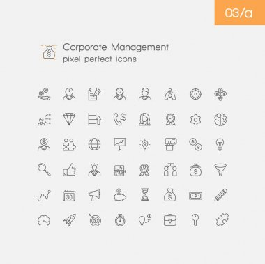 set of corporate management icons