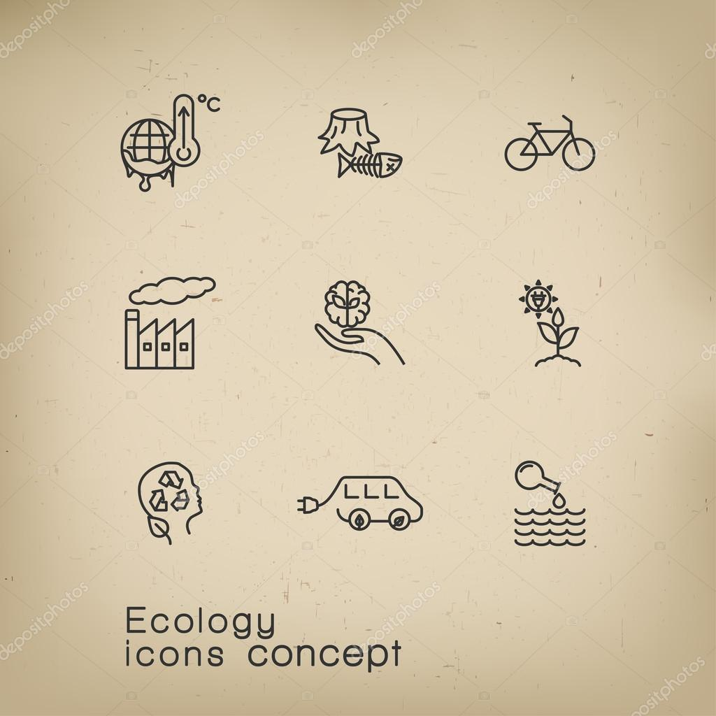 icons set of renewable energy