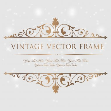 Vintage floral frame. Element for design. stock vector