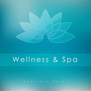 Abstract vector logo template for SPA, Yoga, Cosmetics, Medicine, Pharmacy, Beauty and Health. Creative design icon. clip art vector