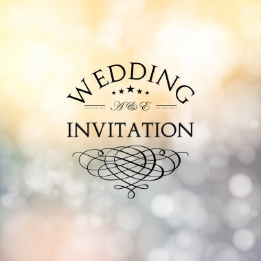 Wedding card with abstract floral background