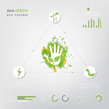 Abstract ecology business template