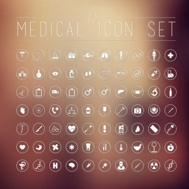 70 medical icons for web