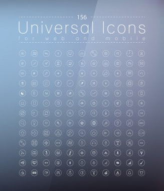 Set of icons for web and user interface design stock vector