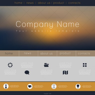 Business website template stock vector