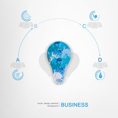 Light bulb with business infographic