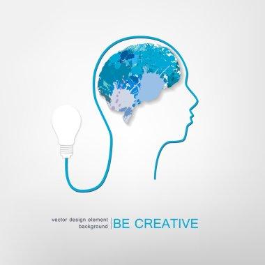Creative idea concept , vector illustration