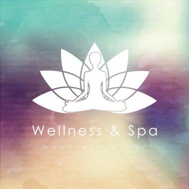 logo template for spa, Yoga