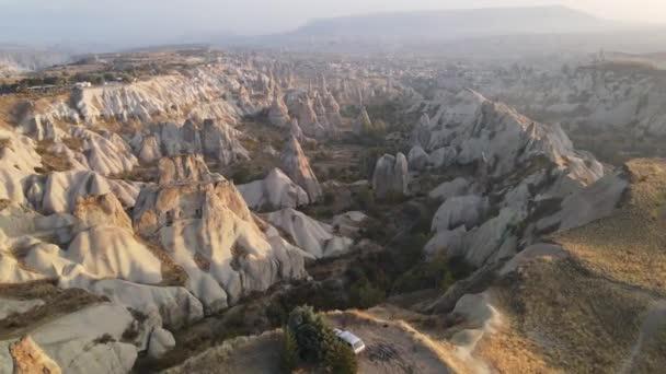 Kappadokia krajina letecký pohled. Krocan. Národní park Goreme