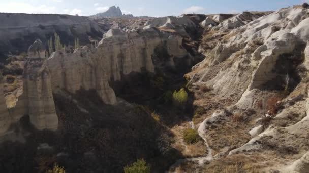 Cappadocia táj légi kilátás. Törökország. Goreme Nemzeti Park