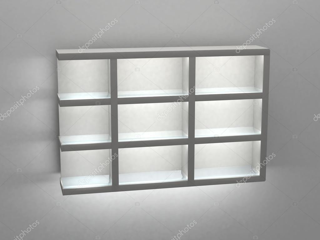 Mensola con illuminazione 3d u2014 foto stock © vadim.ivanchin #72417701