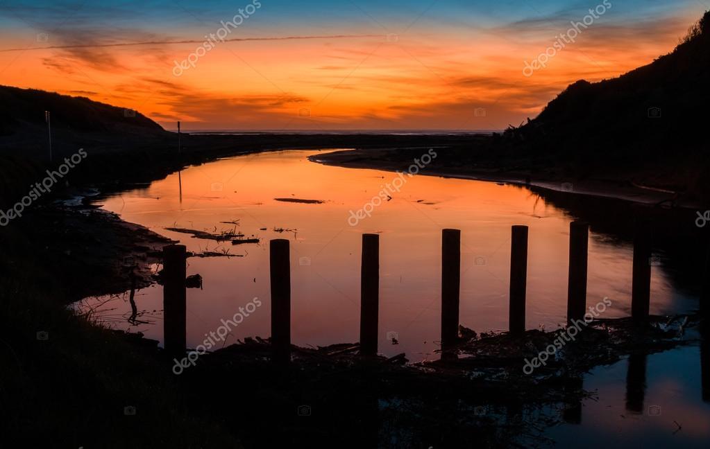 Himatangi Beach River Sundown