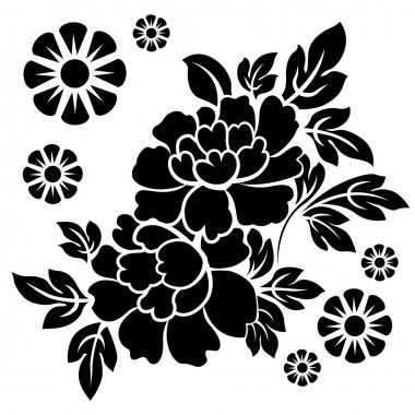 flowers silhouetted  vector