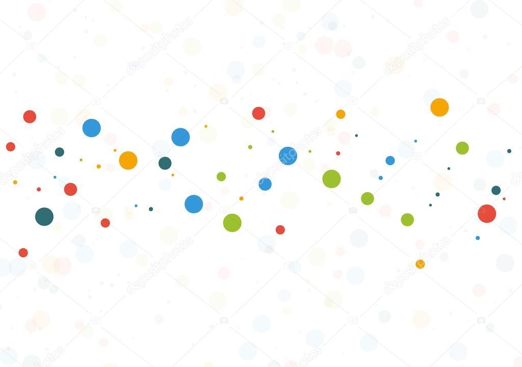 Fondo De Plantilla Con Puntos De Colores