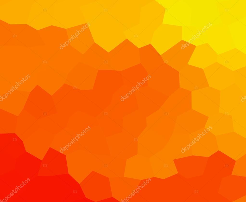 Regenboog abstract mozaïek lage polygoon backrgound in warme kleuren