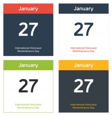 4 isolated calendar sheets for International Holocaust Remembran