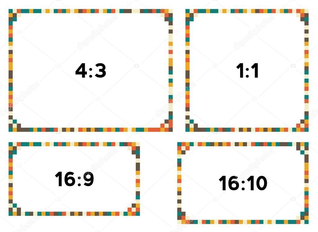 4 Pixel grenzt im Jahrgang Farben für verschiedene Auflösungen ...