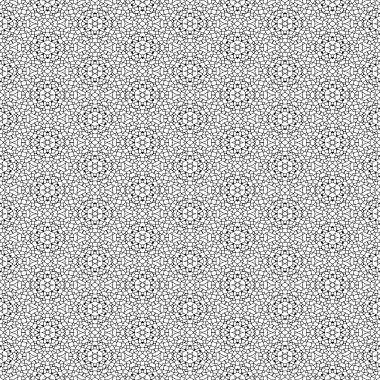 Seamless black and white texture made of irregular polygons