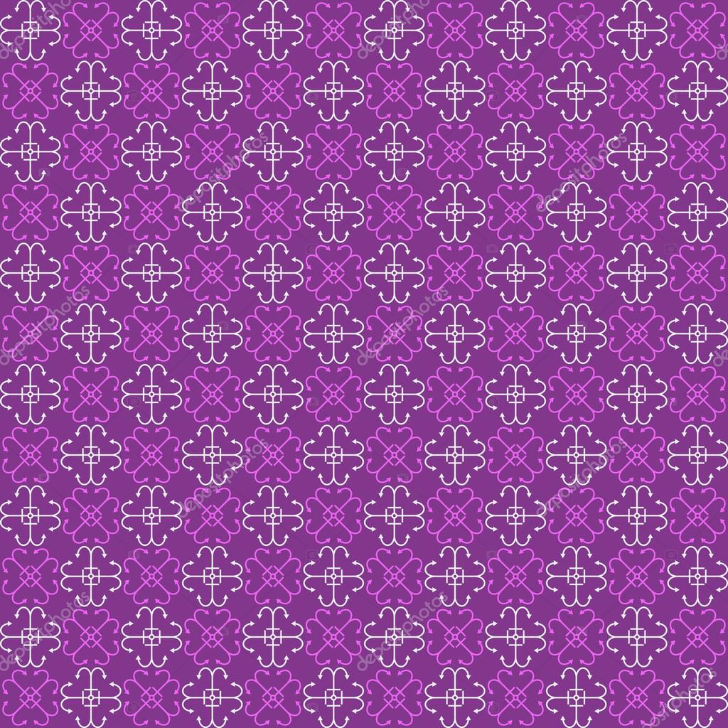 Seamless purple pattern with bright purple and white abstract el