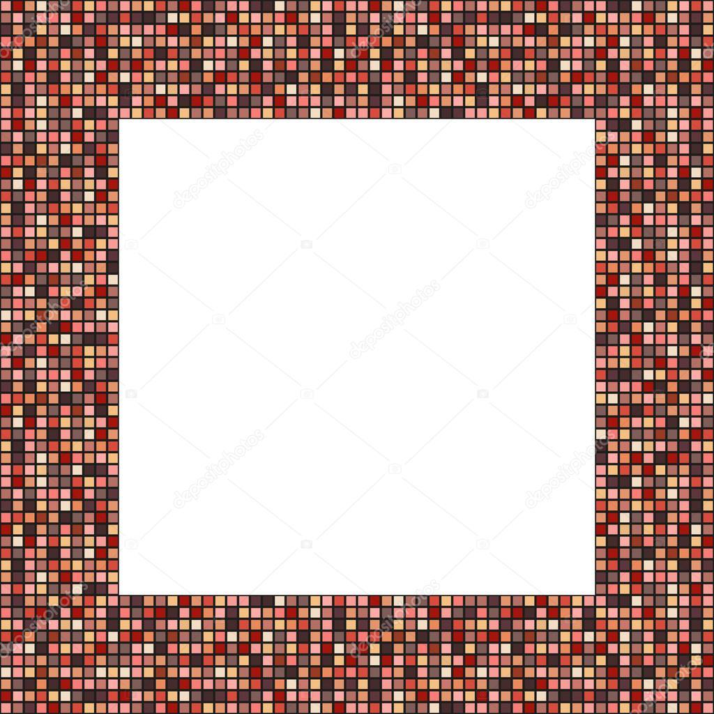 Großer Mosaik-Rahmen in elegante anständige Farben — Stockvektor ...