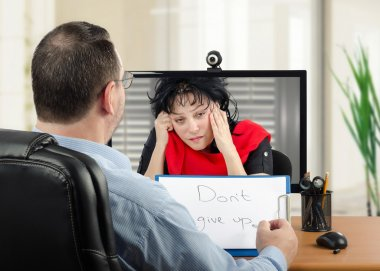 Telepsychiatry can be very helpful to depressed woman