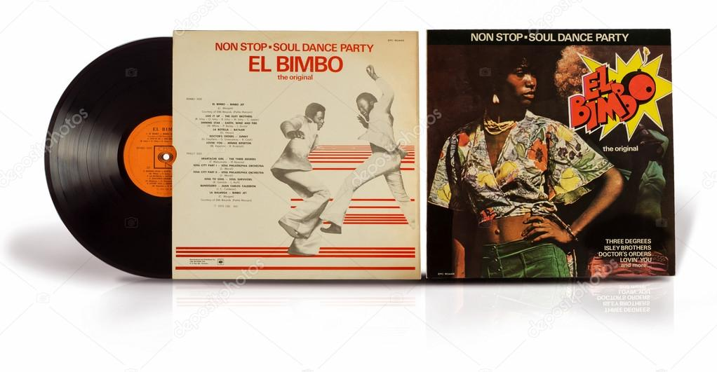 Old vinyl record Non Stop Soul Dance Party El Bimbo – Stock