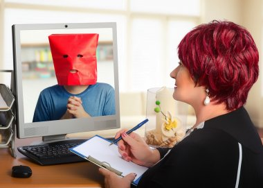 Online psychotherapy helps nervous young man