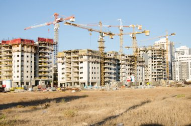 Large residential condominiums under construction