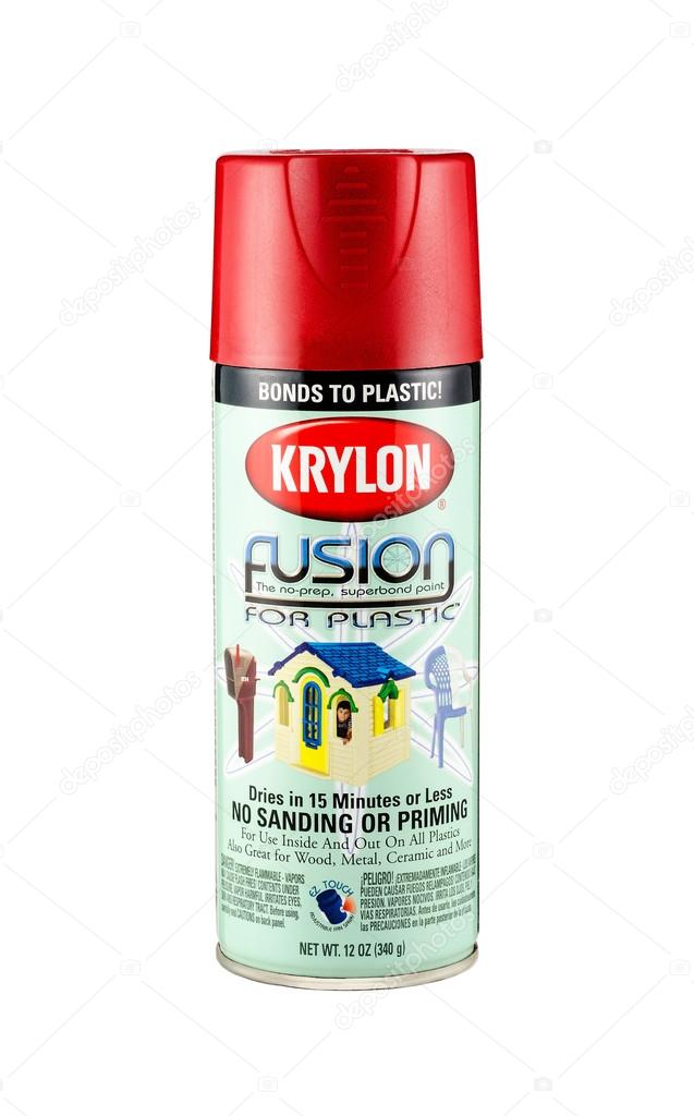 Spray Paint Krylon Fusion For Plastic Stock Editorial