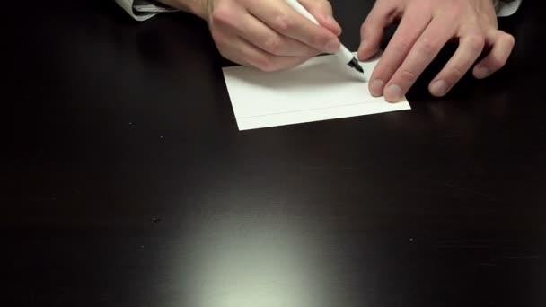 Ruce psaní slova zmizí
