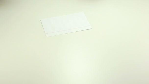 Kemény Megjegyzés papír írás