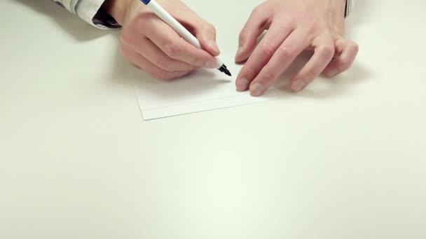 Zápis práce na papír