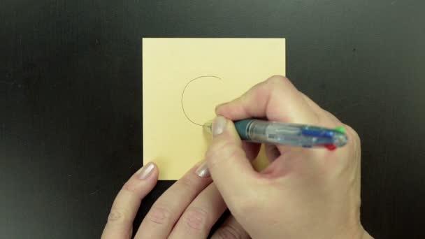 Veselý obličej Cool kresba na papír