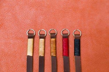 Genuine camera strap handmade with thread on leather, Craftmanship industry