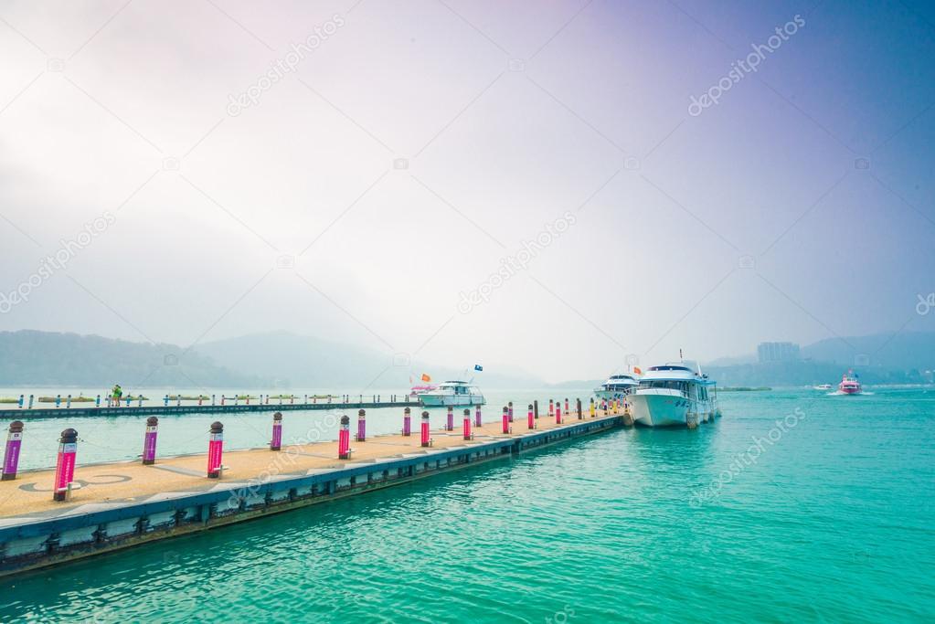 Landscape of Sun Moon Lake pier
