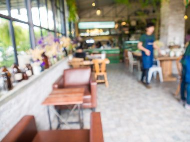 People in Coffee shop blur background with bokeh