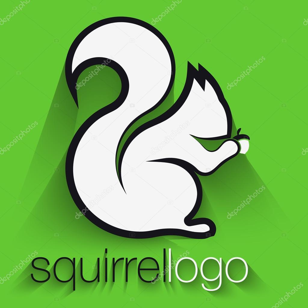 Eichhörnchen-Logo. Gliederung-Eichhörnchen. Vorlage Logo Firma ...